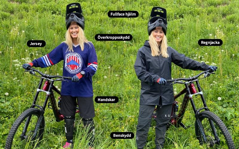 Downhill åre protective equipment we bike rental