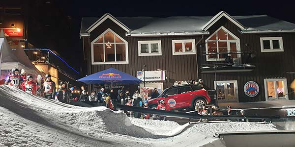 Mini under alpina vm event i åre.